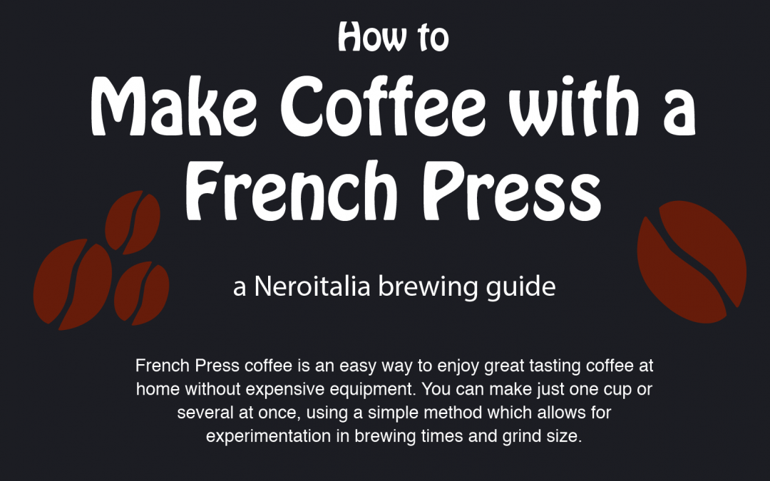 How to make coffee with a french press infographic